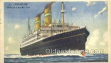 shi010083 - TSS Veendam Holland - America Line, Steamer, Steam Boat, Ship Ships, Postcard Postcards