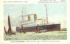 shi010093 - TSS Volendam Holland - America Line, Steamer, Steam Boat, Ship Ships, Postcard Postcards