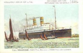 shi010094 - TSS Volendam Holland - America Line, Steamer, Steam Boat, Ship Ships, Postcard Postcards