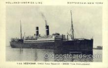 shi010095 - TSS Veendam Holland - America Line, Steamer, Steam Boat, Ship Ships, Postcard Postcards