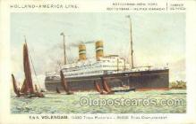 shi010098 - TSS Volendam Holland - America Line, Steamer, Steam Boat, Ship Ships, Postcard Postcards