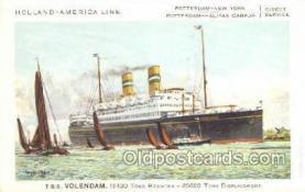 shi010099 - TSS Volendam Holland - America Line, Steamer, Steam Boat, Ship Ships, Postcard Postcards