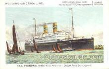 shi010100 - TSS Veendam Holland - America Line, Steamer, Steam Boat, Ship Ships, Postcard Postcards