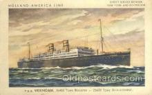 shi010101 - TSS Veendam Holland - America Line, Steamer, Steam Boat, Ship Ships, Postcard Postcards