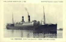 shi010102 - TSS Veendam Holland - America Line, Steamer, Steam Boat, Ship Ships, Postcard Postcards