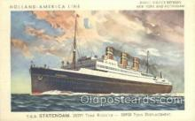 shi010103 - TSS Statendam Holland - America Line, Steamer, Steam Boat, Ship Ships, Postcard Postcards
