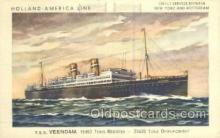 shi010108 - TSS Veendam Holland - America Line, Steamer, Steam Boat, Ship Ships, Postcard Postcards