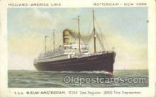 shi010118 - TSS Nieuw Amsterdam Holland - America Line, Steamer, Steam Boat, Ship Ships, Postcard Postcards