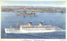shi010153 - SS Queen Frederica National Hellenic Line, Steamer, Steam Boat, Ship Ships, Postcard Postcards