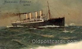 shi011002 - Hamburg America Line Ship Ships Postcard Postcards