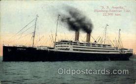 shi011035 - Hamburg -American Line, S.S. Amerika Postcard postcards