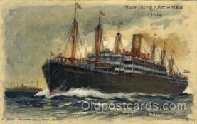 shi011040 - President Lincoln, Hamburg -American Line Postcard Postcards