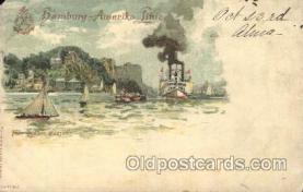 shi011061 - Fort Lee am Hudson Hamburg America Line, Lines, Ocean Liner, Ship Ships Postcard Postcards