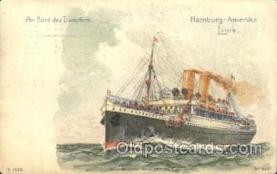 shi011068 - An Bord des Dampfers Hamburg America Line, Lines, Ocean Liner, Ship Ships Postcard Postcards