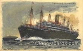 shi011070 - President Lincoln, Rauchsalon Hamburg America Line, Lines, Ocean Liner, Ship Ships Postcard Postcards