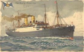 shi011072 - Cincinnati Hamburg America Line, Lines, Ocean Liner, Ship Ships Postcard Postcards