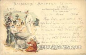 shi011074 - Deutschland Hamburg America Line, Lines, Ocean Liner, Ship Ships Postcard Postcards