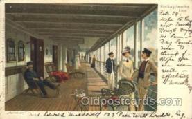 shi011075 - Hamburg Promenadendeck Hamburg America Line, Lines, Ocean Liner, Ship Ships Postcard Postcards