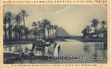 shi011079 - The Pyramids Near Gizeh, Cairo, Gizeh, Die Pyramiden Hamburg America Line, Lines, Ocean Liner, Ship Ships Postcard Postcards