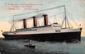 shi011080 - S.S. Imperator Hamburg America Line, Lines, Ocean Liner, Ship Ships Postcard Postcards