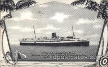 shi012004 - SS Evangeline Clyde Steamship Company postcard postcards