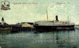 shi012005 - Clyde Line Wharf & Steamer, jacksonville, Florida USA Postcard Postcards