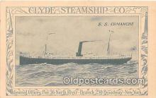 shi012021 - SS Comanche Clyde Steamship Co, New York USA Ship Postcard Post Card