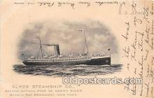 shi012026 - SS Apache Clyde Steamship Co, New York USA Ship Postcard Post Card
