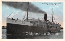 shi012027 - Clyde Line Steamer, McHawk Jacksonville, Florida USA Ship Postcard Post Card