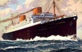 shi014003 - Columbus, Norddeutscher Lloyd Ship Ships Postcard Postcards