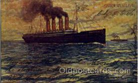 shi014011 - Kaiser Wilhelm II Ship Ships Ocean Liner Postcard Postcards