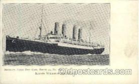 shi014019 - Kaiser Wilhelm Der Grosse Ship Ships Ocean Liner Postcard Postcards
