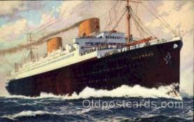 shi014020 - Columbus Ship Ships Ocean Liner Postcard Postcards