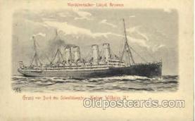 shi014022 - Kaiser Wilhelm II Ship Ships Ocean Liner Postcard Postcards