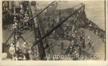 shi015011 - U.S.S. Frederick Military Ship Real Photo Ships Postcard Postcards