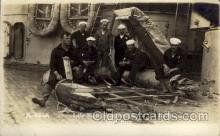 shi015018 - U.S.S. Frederick Military Ship Real Photo Ships Postcard Postcards