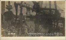 shi015021 - U.S.S. Frederick Military Ship Real Photo Ships Postcard Postcards