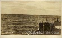 shi015031 - U.S.S. Frederick Military Ship Real Photo Ships Postcard Postcards