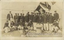 shi015033 - U.S.S. Frederick Military Ship Real Photo Ships Postcard Postcards