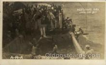 shi015041 - U.S.S. Frederick Military Ship Real Photo Ships Postcard Postcards