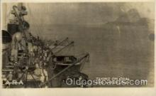 shi015044 - U.S.S. Frederick Military Ship Real Photo Ships Postcard Postcards