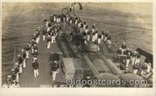 shi015045 - U.S.S. Frederick Military Ship Real Photo Ships Postcard Postcards