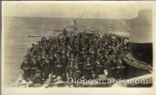 shi015048 - U.S.S. Frederick Military Ship Real Photo Ships Postcard Postcards