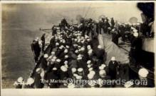 shi015055 - U.S.S. Frederick Military Ship Real Photo Ships Postcard Postcards