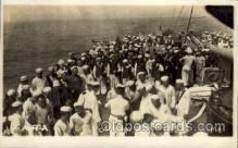 shi015059 - U.S.S. Frederick Military Ship Real Photo Ships Postcard Postcards