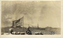 shi015065 - U.S.S. Frederick Military Ship Real Photo Ships Postcard Postcards