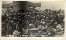 shi015078 - U.S.S. Frederick Military Ship Real Photo Ships Postcard Postcards