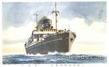 shi017027 - O.S.K Line Ship Postcard Postcards