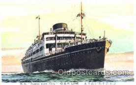 shi017051 - M.S. Buenos Aires Maru Osaka Shosen Kaisha Postcard Postcards