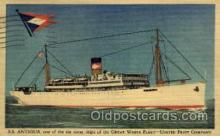 shi019002 - S.S. Antigua, United Fruit Company, Great White Fleet, Ship Ships Postcard Postcards